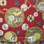 cotton lightweight floral black gold red