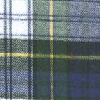Brushed Cotton Plaid Flannel Fabric Blue Green White Yellow