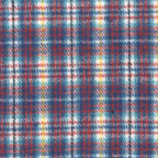 Brushed Cotton Flannel Fabric Blue Red White Yellow