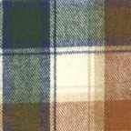 Brushed Cotton Plaid Flannel Fabric Green Blue Brown White