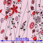 red pink cotton lawn abstract floral