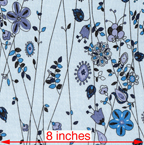 blue pale blue cotton lawn abstract floral