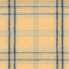 Blue Yellow Plaid Cotton Flannel Fabric