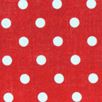 white dots polka dots red voile